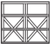 garage door panel 3 rows 2xs across bottom 2 rows