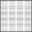 garage door 4x45 squares with ribbed lines