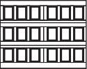 garage door 6x3 squares