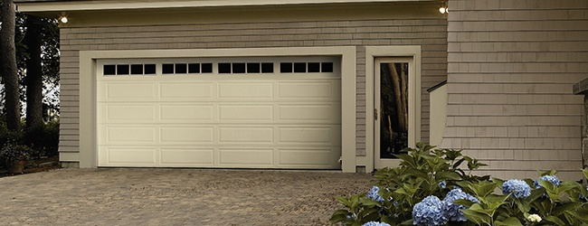 ... Insulated Garage Door Thermacore Long Panel Almond ...