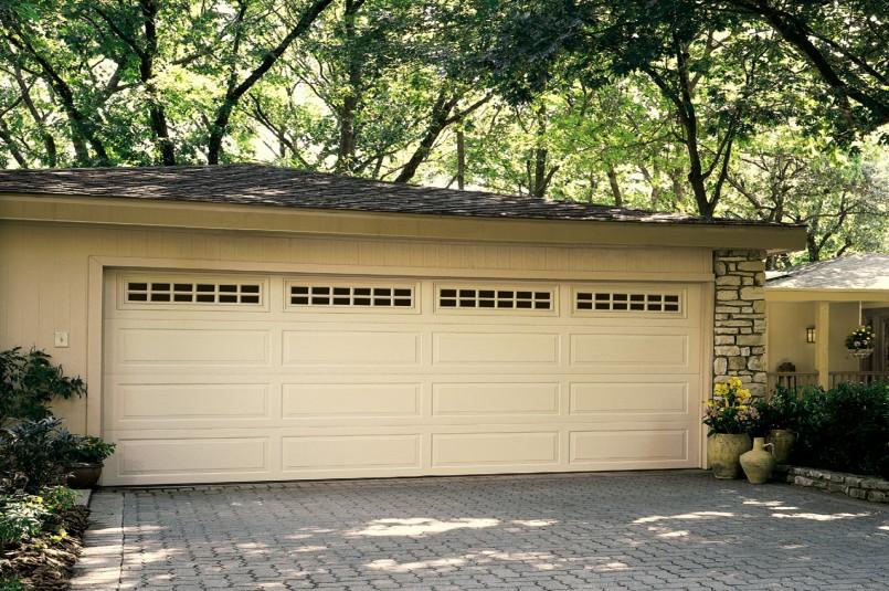 door classic foot doors strut garage panel wood natural collection six