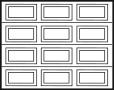 garage door design 4x3 panels