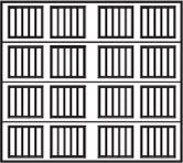 wood garage door design 4x4 panels